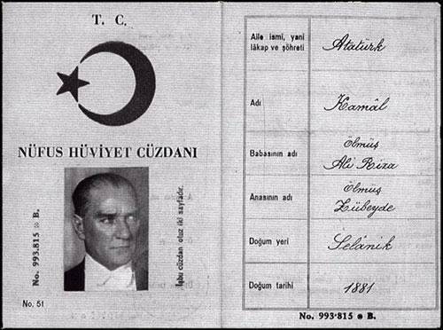 Atatürk Nüfus Cüzdanı